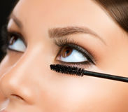 Mascara Applying Stock Images