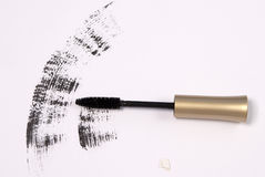Mascara brush. With a shadow on white Royalty Free Stock Photo