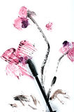 Mascara-brush painted orchid Stock Photos