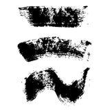 Mascara brush stroke set Stock Image