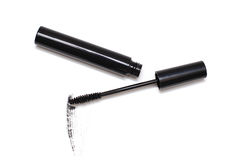 Mascara and brush in tube Royalty Free Stock Photography