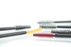 Mascara brushes Stock Images