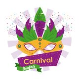 Mascara carnival design. Icon vector illustration graphic Royalty Free Stock Photos