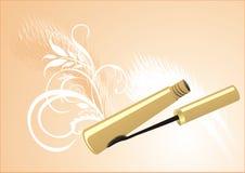 Mascara on the decorative background Stock Image