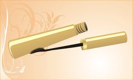 Mascara on the decorative background. Card Royalty Free Stock Photo