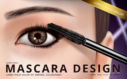 Mascara design ad Royalty Free Stock Images