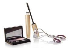 Mascara, eye shadow, eyelash curler Royalty Free Stock Image