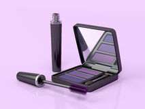 Mascara and eye shadow Stock Image