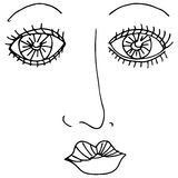 Mascara Eyes Royalty Free Stock Photo