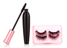 Mascara and false eyelashes Royalty Free Stock Photography