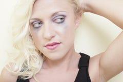 Mascara running down her face Stock Photos