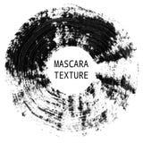Mascara texture. Decorative artistic element. Qualitative trace of real mascara brush stroke. Black circle line isolated on a white background vector illustration