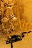Mascarada, champers y ópera Imagenes de archivo