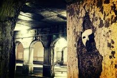 Mascarada - fantasma de la máscara de la ópera Fotografía de archivo