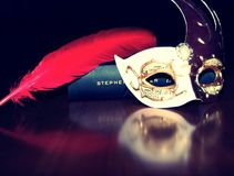 Mascarade still life. stock photo