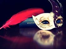 Mascarade stilleben arkivfoto