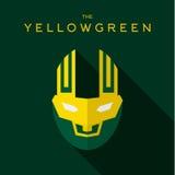 Mascare o logotipo liso do vetor do ícone do estilo do super-herói do herói Imagem de Stock Royalty Free