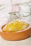Mascarilla del plátano y de la miel Imagen de archivo libre de regalías