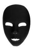 Mascarilla negra misteriosa Imagenes de archivo