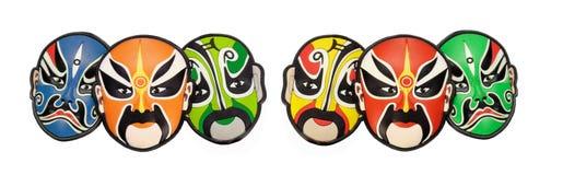 Mascarillas chinas coloridas de la ópera Imagen de archivo libre de regalías