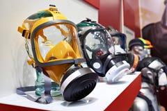 Mascarillas protectoras industriales para el trabajo peligroso Fotografía de archivo