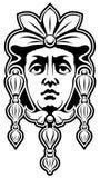 Mascaron. Black and white image of ?ascaron on building Royalty Free Stock Image