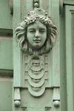 Mascaron on the Art Nouveau building in Prague. Stock Photography