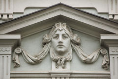 Mascaron on the Art Nouveau building in Prague Stock Photo