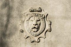 Mascaron av ett lejon fotografering för bildbyråer
