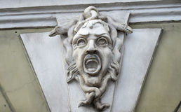 Mascaron on the house. Mascaron on the house in Glinka street in St. Petersburg Royalty Free Stock Images