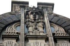 Mascaron på villan av den skriande änkan Arkivbild