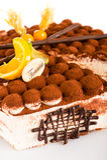 Mascarpone délicieux de dessert de gâteau de tiramisu Photos libres de droits