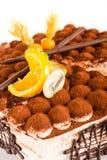 Mascarpone délicieux de dessert de gâteau de tiramisu Photographie stock libre de droits