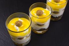 Mascarpone dessert with amarettini Royalty Free Stock Images