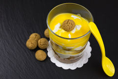 Mascarpone dessert with amarettini Stock Images