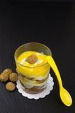 Mascarpone dessert with amarettini Royalty Free Stock Image