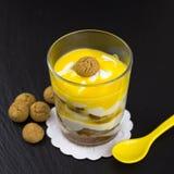 Mascarpone dessert with amarettini Royalty Free Stock Photography