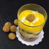 Mascarpone dessert with amarettini Royalty Free Stock Photos