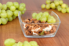 Mascarpone Dessert with Cookies Stock Images