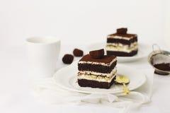 Mascarpone i kawowy tort Obraz Stock