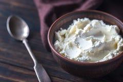 Mascarpone - Italian cream cheese royalty free stock photos