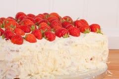 Mascarpone and strawberry cake Stock Photography