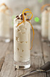 Mascarpone white chocolate mousse Royalty Free Stock Images