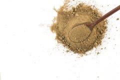Mascavo Brown cukier w łyżce zdjęcie stock