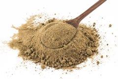 Mascavo Brown cukier w łyżce obraz stock