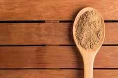 Mascavo brown cukier w łyżkę Obrazy Stock