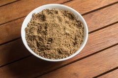 Mascavo brown cukier w puchar Zdjęcia Royalty Free