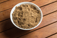 Mascavo brown sugar into a bowl Royalty Free Stock Photos