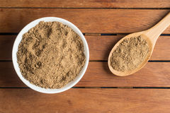 Mascavo brown sugar into a bowl Royalty Free Stock Images