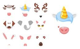 Maschera animale di carnevale o del fronte illustrazione vettoriale